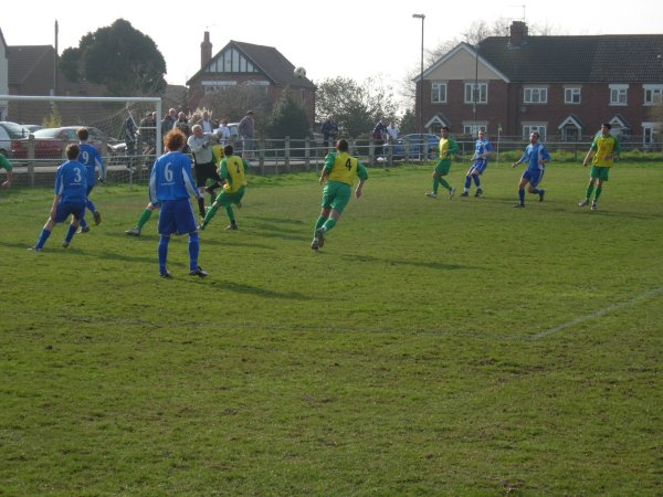 Action from Berkeley Town V Bishops Cleeeve Reserves
