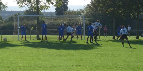 Action from Hanham Athletic V Axa