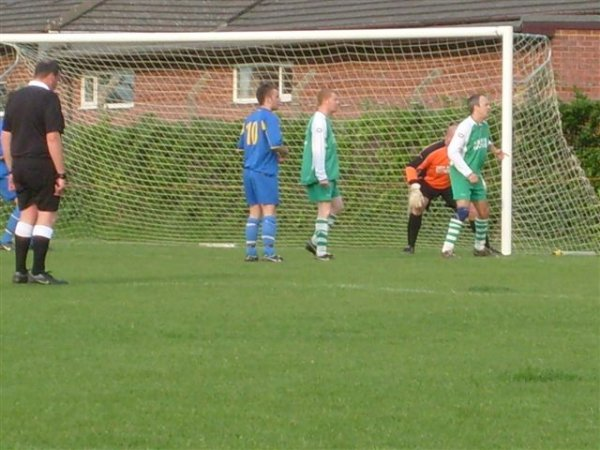 Action in the Pucklechurch goalmouth