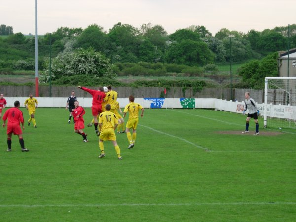 Action in the Hardwicke goalmouth
