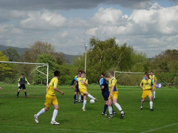 Action from Kings Stanley V Bishops Cleeve Reserves
