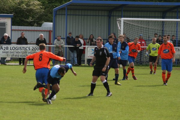 Action from the League Cup Final