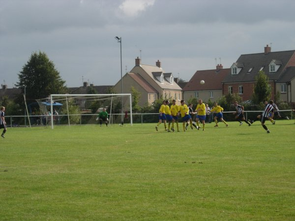 A Patchway freekick against Wotton