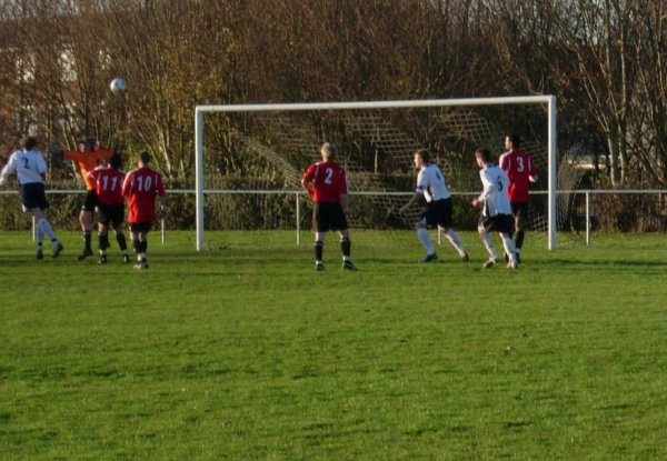 Luke Coles heads goalwards for Yate Town Reserves