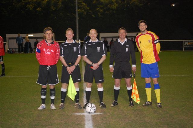 Referees and Captains from Gloucestershire V Somerset