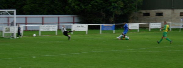 Carl Brown seals the points for Slimbridge
