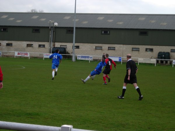 Action from Slimbridge V Kings Stanley