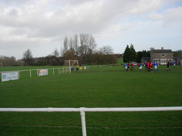 Craig Harris fires in a free kick for Taverners