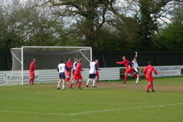 Action from Yate Town Reserves V Hanham Athletic