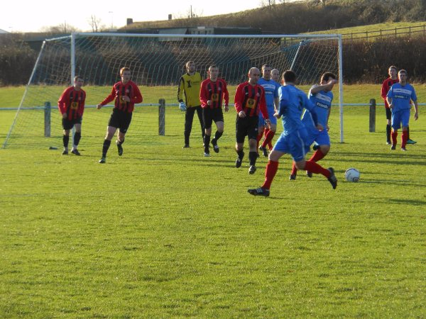 Action from Cribbs Friends Life V Thornbury Town