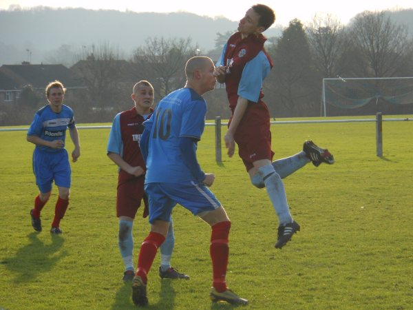 Action from Cribbs Friends Life V Tuffley Rovers