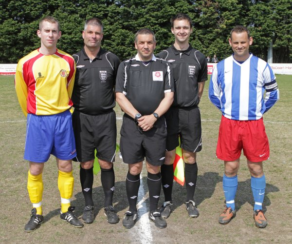 Match Officials and captains