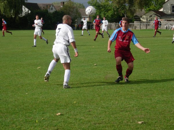 Action from Hanham Athletic V D.R.G Stapleton