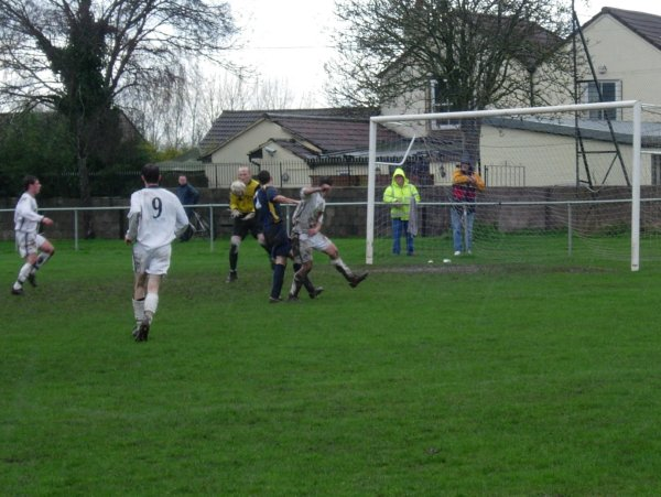 Action from Hanham Athletic V Thornbury Town