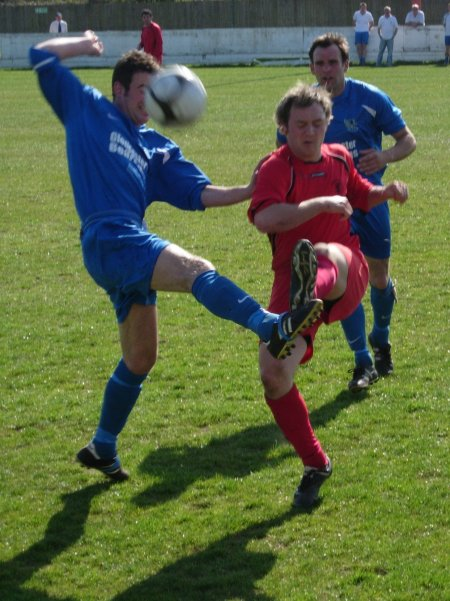 Action from Highridge United V Ellwood