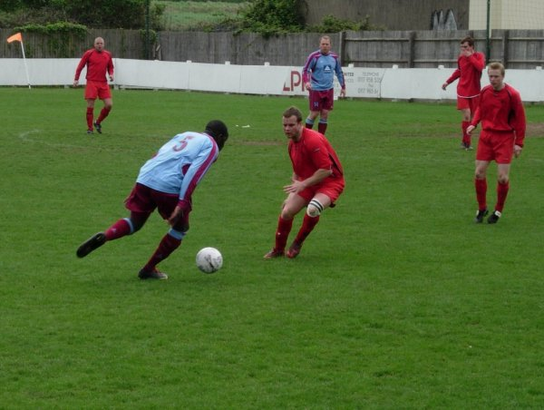 Action from Highridge United V Tuffley Rovers