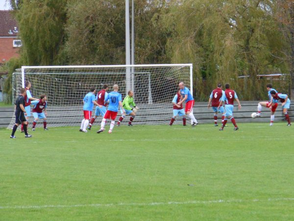 Action from Tuffley Rovers V Cribbs Friends Life