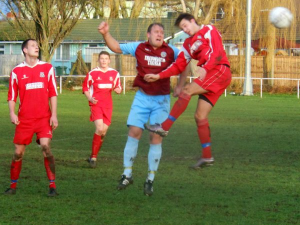 Action from Tuffley Rovers V Taverners