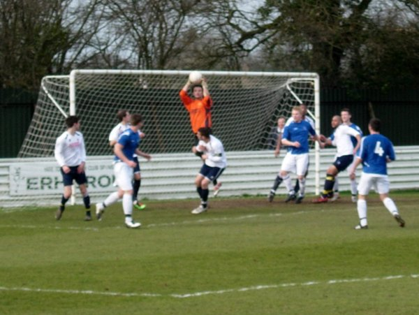 Action from Yate Town Reserves v Brimscombe & Thrupp