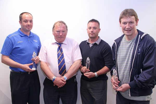 Cribbs Friends Life - Chipping Sodbury Town & Taverners all received awards from Vice-Chairman Peter Langley for being the best Disciplined Clubs throughout the season